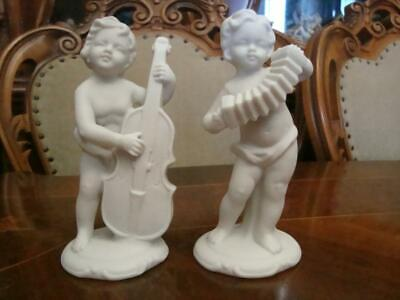 $ CDN187.98 • Buy Germany Original Antique Porcelain Figurine  Paired Putti Musicians  Biscuit
