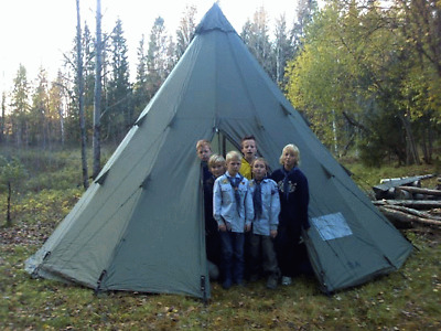 £575 • Buy Bison Tinde 16 Lavvu Tent Tipi Forest School Tentipi Glamping Family Yurt Camp