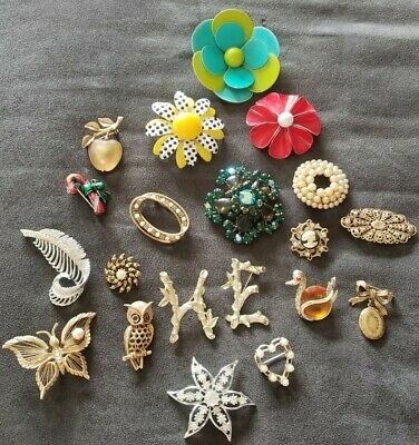 $ CDN8.46 • Buy Lot Of 20 Vintage Brooches, Sarah Coventry/brooks/more Nice Costume Jewelry Lot!