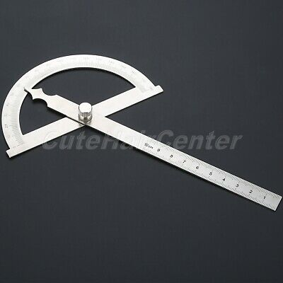 £5.99 • Buy Adjustable Stainless Steel Measure Protractor Angle Finder Arm Ruler Tool 100mm