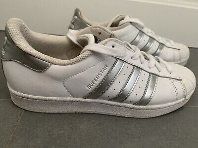 AU37.40 • Buy Size 9 - Adidas Superstar White Silver