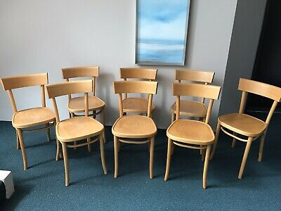 AU249 • Buy Set Of 8 Genuine Original Thonet Dining Chairs In Good Condition.
