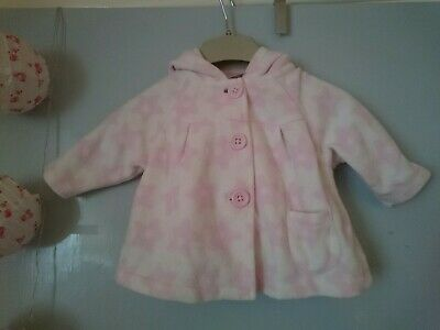 AU3.57 • Buy Next Pink Star Fleece Jacket 0-3 Months