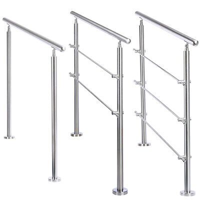£155.95 • Buy Stainless Steel Handrail Garden Stairs Railings Exterior Handrail For In/Outdoor