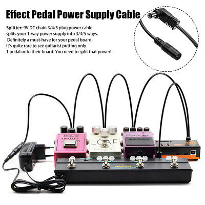 AU12.11 • Buy 9V 2A Musical Cord Effect Pedal Power Supply Cable Chain Electric Guitar Adapter