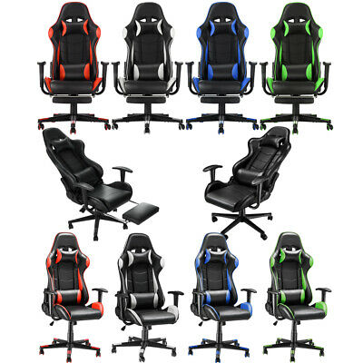 £84.99 • Buy Gaming Chair Ergonomic Office PC Computer Recliner Swivel Chair Padded Head Rest