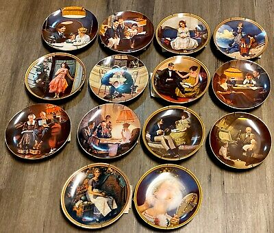 $ CDN99.59 • Buy Vintage Lot (14) Knowles NORMAN ROCKWELL Collector Plates, Hangers  & COA's- Nic