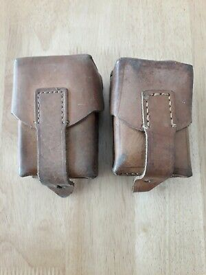 £14.95 • Buy 2 Vintage Leather Mauser Cartridge Ammo Pouches
