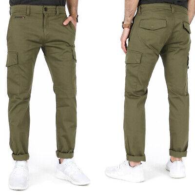 £71.92 • Buy Diesel Mens Slim Fit Stretch Cargo Jeans Pants Chino - Olive Green - Chi-Thommer