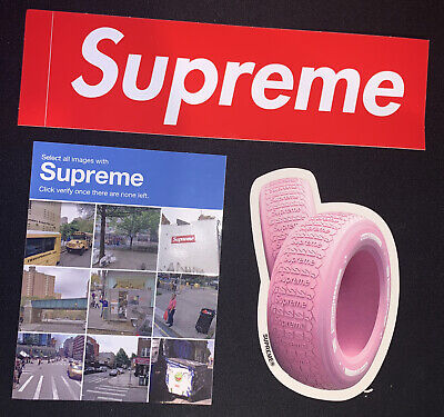 $ CDN15.55 • Buy Supreme Captcha And Tyre Sticker Pack