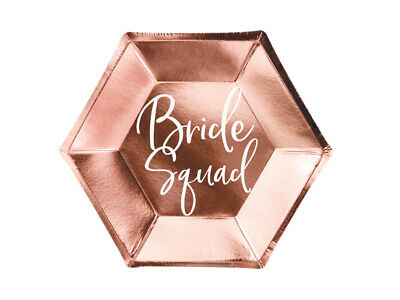 £3.15 • Buy Bride To Be Rose Gold PLATEs X6 Wedding Bridal Shower Hen Do Engagement Party