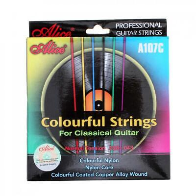 $ CDN7.38 • Buy Guitar String 6pcs/set Colorful Strings Classical Guitar Strings 028 - 043 Inch