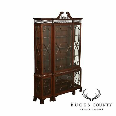 $6495 • Buy Baker Stately Homes Collection Mahogany Chippendale Style Display Cabinet