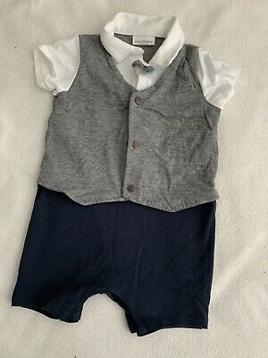 £6 • Buy Next Baby Boy Outfit With Waistcoat & Bow Tie Jumpsuit Shirt & Shorts 9-12 Month