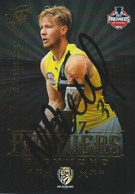 AU29.99 • Buy ✺Signed✺ 2017 RICHMOND TIGERS AFL Premiers Card NATHAN BROAD