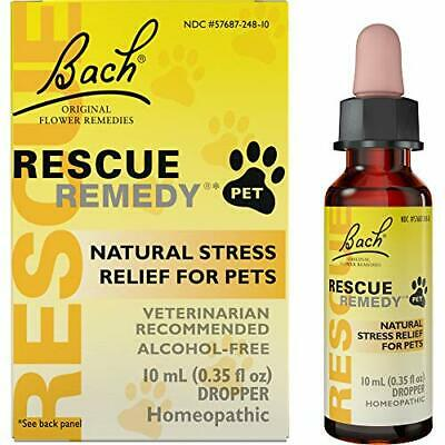 RESCUE REMEDY Pets Dog Cat Dropper Natural Homeopathic Stress Relief Relax 10 Ml • 11.34£