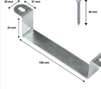 £7.50 • Buy Fence Post Clamps Security Bracket Anti Rattle Fence Panel Security 10 Packs.