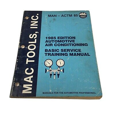 $14.99 • Buy 1985 Mac Tools Automotive Air Conditioning Basic Service Training Manual Book