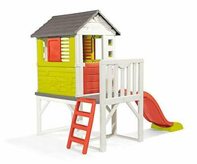 £476.99 • Buy Kids Plastic Playhouse On Stilts With Slide   Strong And Durable Wendy House