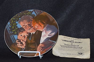 $ CDN17.34 • Buy Norman Rockwell Collector Plate 1978- Christmas Story  With Coa &box