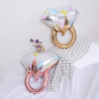 AU6.09 • Buy Gold Diamond Ring Foil Balloons Inflatable Wedding Balloon Event Party H DD