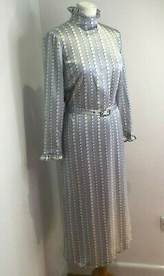 £70 • Buy BNWT Kate Spade Collection Silk Pearl Pattern High Neck Belted Midi Dress 8 10