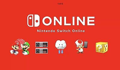 $ CDN10.87 • Buy Nintendo Switch Online Membership 12 Months (EXP: 5 May 2022)