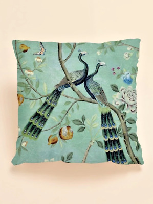 £7 • Buy Vintage Peacock Floral Green Scatter Cushion Cover