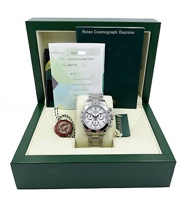 $ CDN34232.63 • Buy Rolex Daytona Cosmograph 116520 White Dial Stainless Steel Box Paper UNPOLISHED