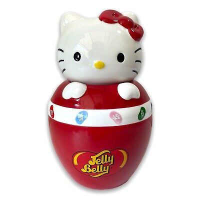 £11.32 • Buy Hello Kitty Jelly Belly Jelly Bean Red Ceramic Candy Jar 2010 Sanrio 7 1/2  Tall