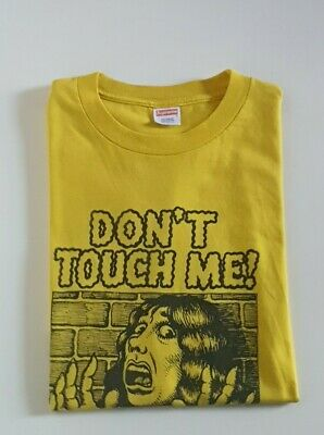 $ CDN255.59 • Buy Very Rare SS07 Supreme X R. Crumb Don't Touch Me Tee Size L Yellow T-shirt Large
