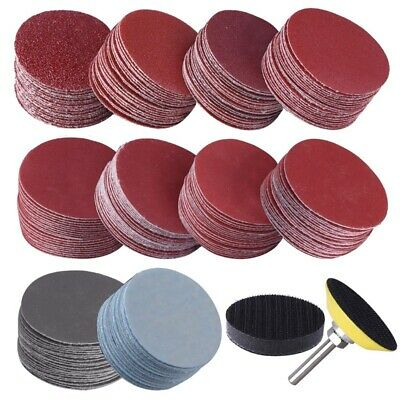 AU21.40 • Buy 200Pcs 50mm 2 Inch Sander Disc Sanding Discs 80 3000 Grit Paper With 1Inch A7D1