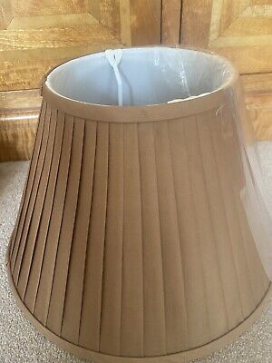 £34.95 • Buy Gold Bronze Table Lamp Shades Pure Silk Pleat Lined High End Designer 14 16 18