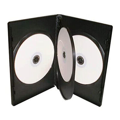 £14.99 • Buy 10 X 4 Way Black DVD 14mm Spine Holds 4 Discs Empty Brand New Replacement Case