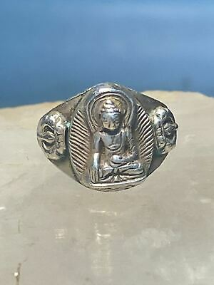 £54.32 • Buy Buddha Ring Religious Band Sterling Silver Women