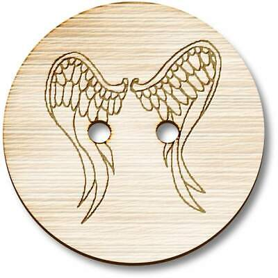 £3.99 • Buy 'Angel Wings' Wooden Buttons (BT020998)