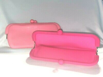 AU16.76 • Buy Silicone Cosmetic ~ Cell Phone ~ Pouch / Clutch Purse / Pencil Case ~ Pink /neon
