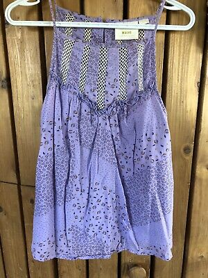 $ CDN30 • Buy Anthropologie Maeve Lavender Lace Inset Sleeveless Top M