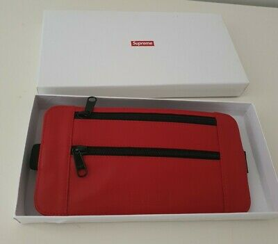 $ CDN197.33 • Buy RRP $138 SS19 Supreme Cowhide Leather Waist/ Shoulder Pouch Bag Red