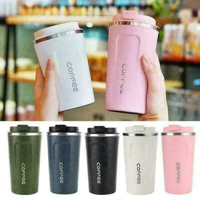 AU16.99 • Buy Insulated Coffee Cup Mugs Travel Thermal Stainless Steel Vacuum Flasks Leakproof