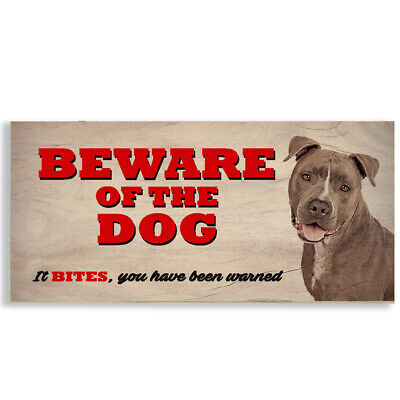£3.99 • Buy #1123 Beware Of The Dog Staffordshire Bull Terrier Gate House Sign Plaque