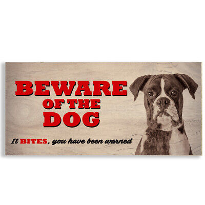 £3.99 • Buy #1118 Beware Of The Dog Boxer Gate House Sign Plaque