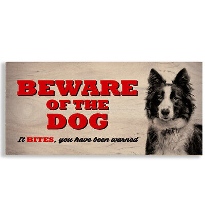 £3.99 • Buy #1117 Beware Of The Dog Border Collie Sheepdog Gate House Sign Plaque