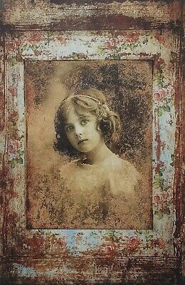 £1.99 • Buy Rice Paper For Decoupage Scrapbook Craft Old Retro Picture Girl 967
