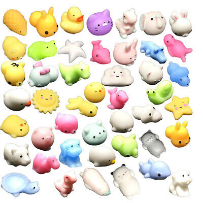 AU6.99 • Buy 1-50 Cute Mini Animal Squishies Kawaii Mochi Squeeze Toys Stretch Stress Squishy