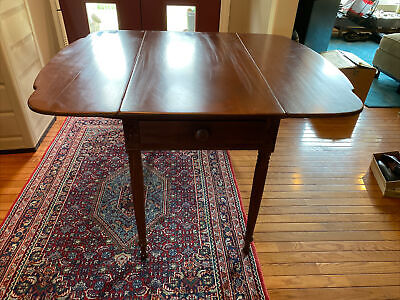 $175 • Buy Antique Carved Mahogany Sheraton Style Dropleaf Kitchen/Side Table