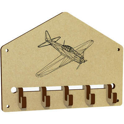 $6.94 • Buy 'Vintage Military Aircraft' Wall Mounted Key Hooks / Holder (WH00019183)