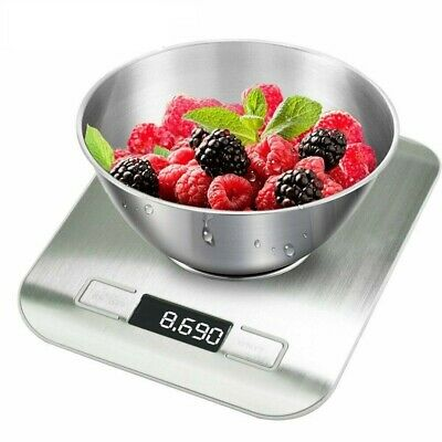 £5.98 • Buy 10kg Digital Kitchen SCALE Electronic Household Food Cooking Weighing Bowl Scale