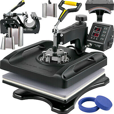 AU374.38 • Buy VEVOR Heat Press 15 X 15 Inch 8 In 1 Multifunctional Set For DIY Mug Cap Plate