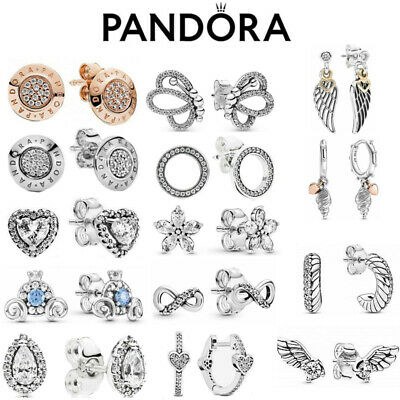 AU19.99 • Buy Pandora Silver Earrings Radiant Elegance Sparkling Flower S925 Ale